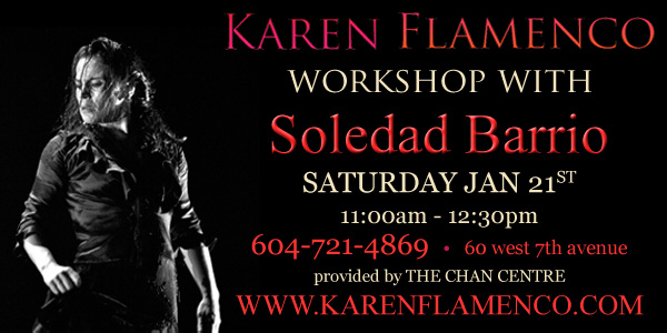 Soledad Barrio Karen Flamenco Workshop